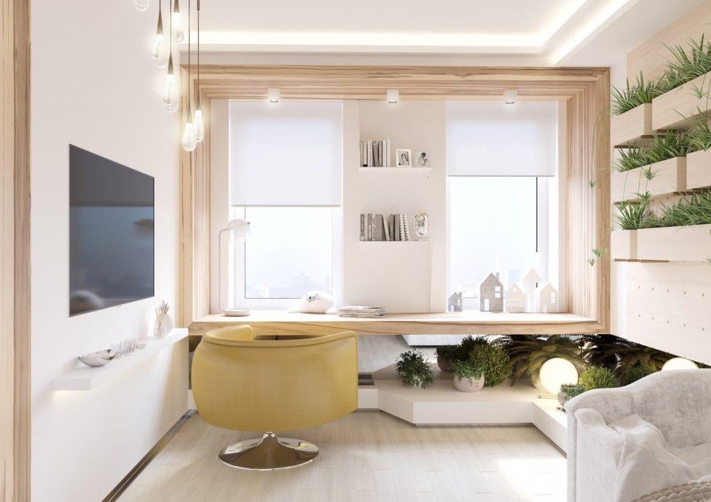 Yellow-desk-chair-1024x724 Thiết kế phòng làm việc tại nhà hợp phong thủy