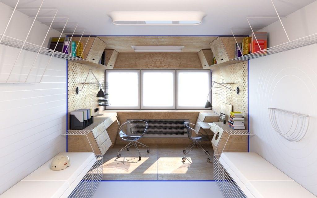 futuristic-dormitory-workspace-concept-1024x640 [Tư vấn] Lựa chọn các mẫu bàn làm việc tại nhà