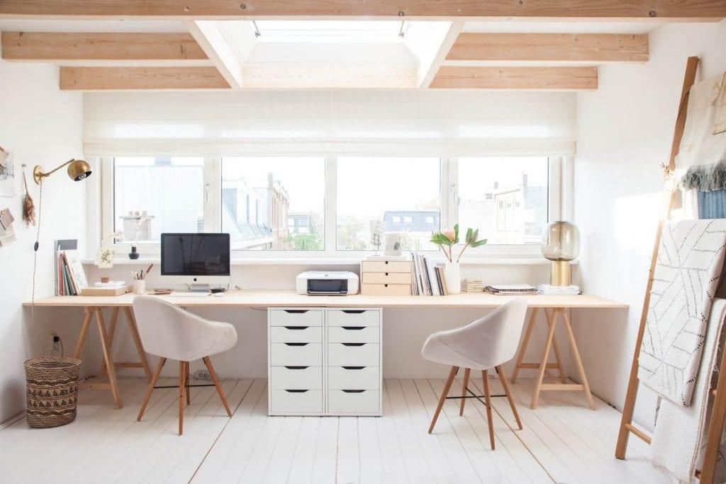 home-office-for-two-1024x683 [Tư vấn] Lựa chọn các mẫu bàn làm việc tại nhà