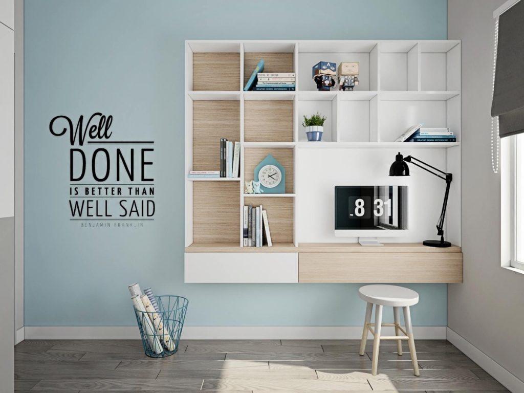 kids-study-desk-1024x768 Thiết kế phòng làm việc tại nhà hợp phong thủy