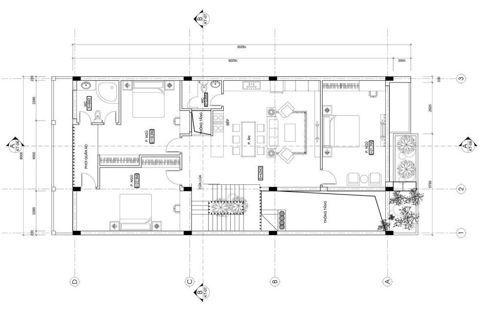 mat-bang-2d Thiết kế nội thất: Những điều mà bạn nên biết!