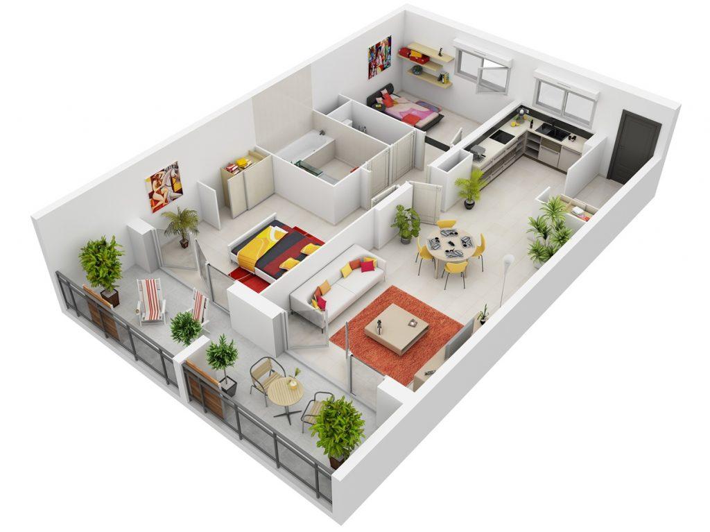 mat-bang-3d-1024x767 Thiết kế nội thất: Những điều mà bạn nên biết!
