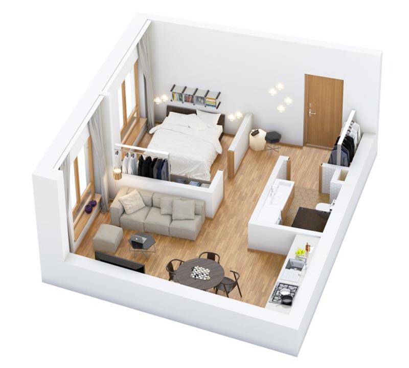 mau-thiet-ke-nha-dien-tich-nho-4 Tư vấn thiết kế nhà nhỏ đẹp