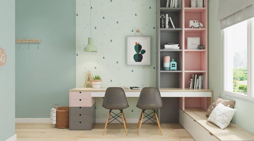 shared-kids-workspace-1024x568 Thiết kế phòng làm việc tại nhà hợp phong thủy