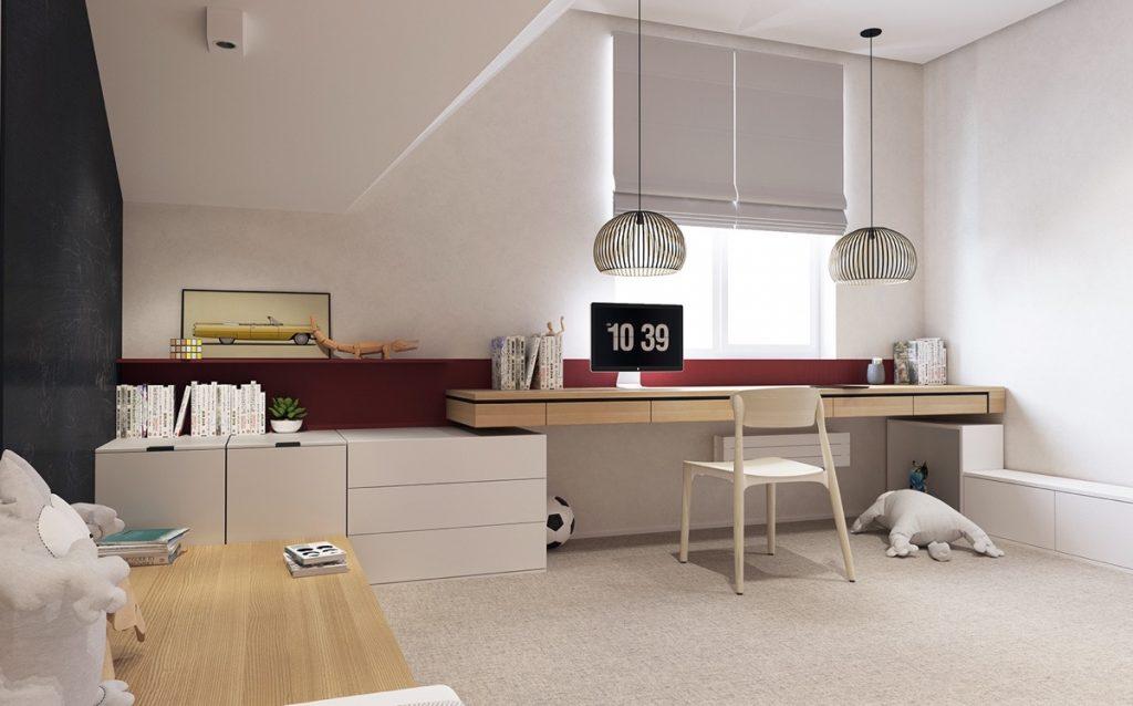 teenagers-study-room-1024x638 Thiết kế phòng làm việc tại nhà hợp phong thủy