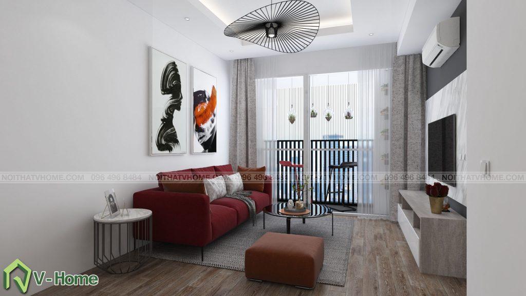 thiet-ke-phong-khach-river-garden-1-1024x576 Thiết kế nội thất chung cư 70m2 Riverside Garden tuyệt đẹp