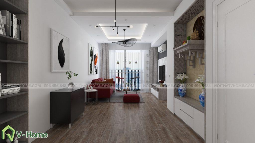 thiet-ke-phong-khach-river-garden-4-1024x576 Thiết kế nội thất chung cư 70m2 Riverside Garden tuyệt đẹp