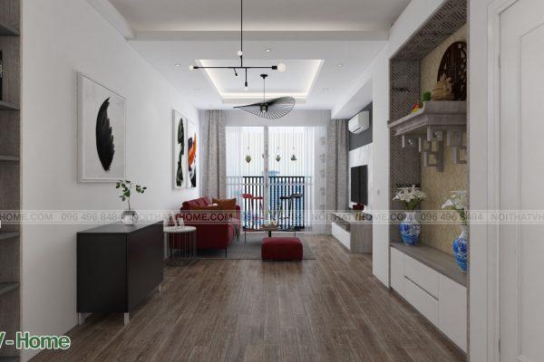 Thiết kế nội thất chung cư Riverside Garden - A Thành