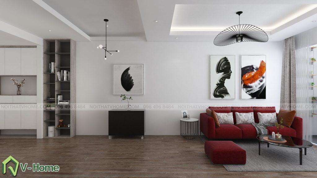 thiet-ke-phong-khach-river-garden-5-1024x576 Thiết kế nội thất chung cư 70m2 Riverside Garden tuyệt đẹp