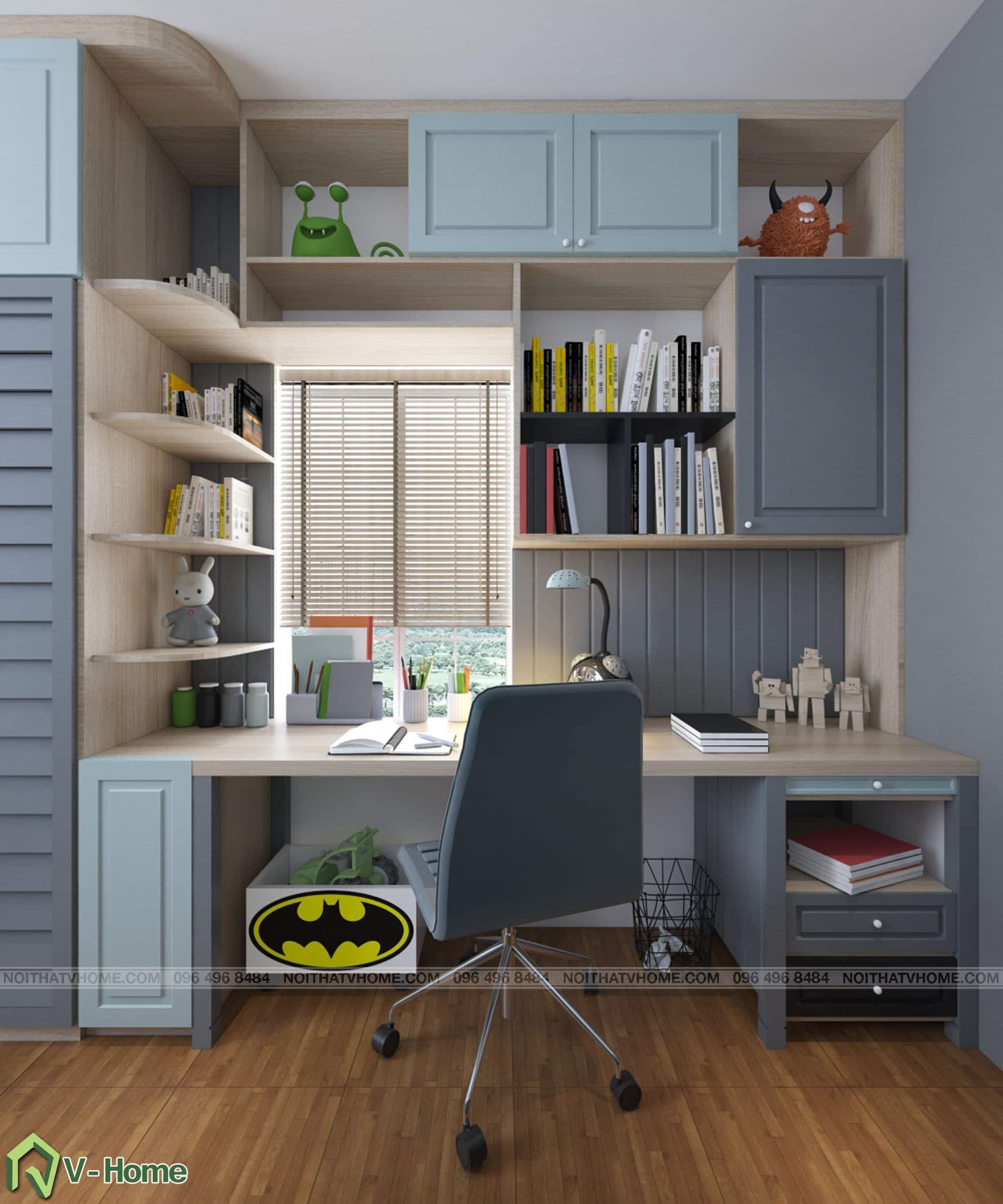 thiet-ke-phong-ngu-be-trai-4 Thiết kế nội thất phòng ngủ bé trai
