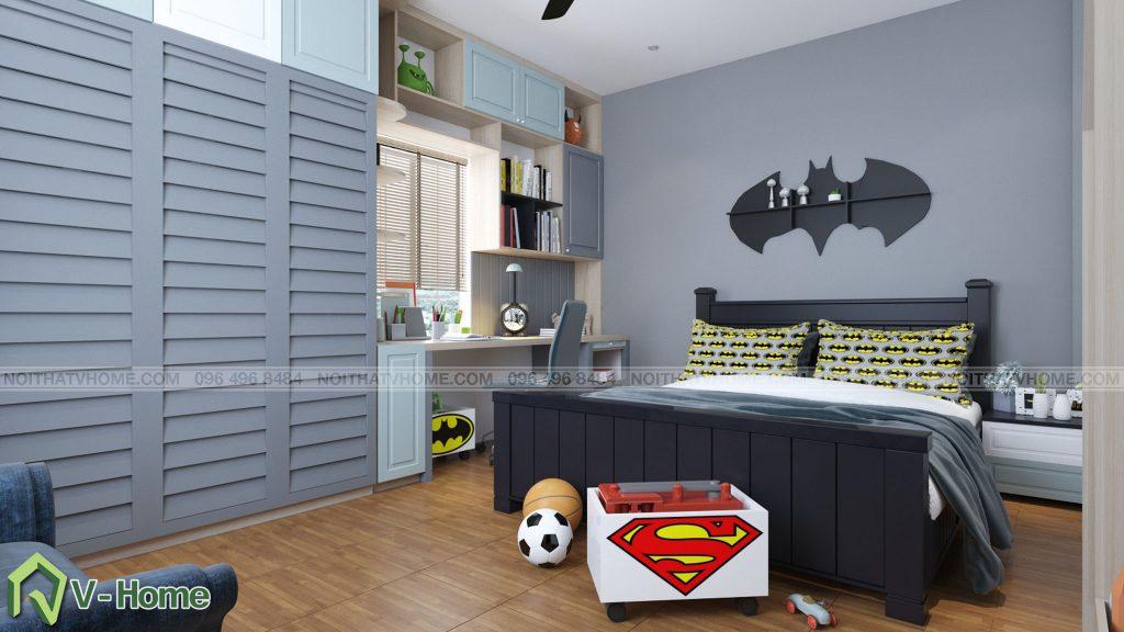thiet-ke-phong-ngu-be-trai-5-1024x576 Thiết kế nội thất phòng ngủ bé trai