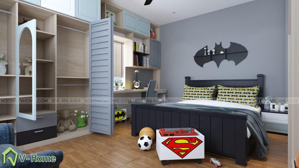 thiet-ke-phong-ngu-be-trai-6-1024x576 Thiết kế nội thất phòng ngủ bé trai