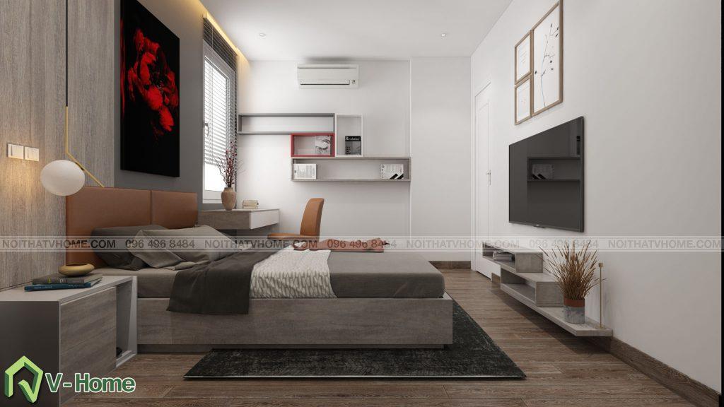 thiet-ke-phong-ngu-river-garden-1-1024x576 Thiết kế nội thất chung cư 70m2 Riverside Garden tuyệt đẹp