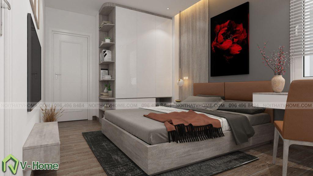 thiet-ke-phong-ngu-river-garden-2-1024x576 Thiết kế nội thất chung cư 70m2 Riverside Garden tuyệt đẹp