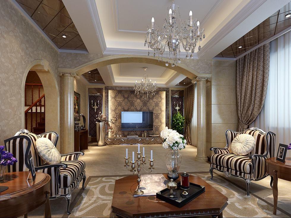 versace-inspired-chinese-living Thiết kế nội thất: Những điều mà bạn nên biết!