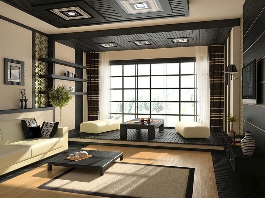 2-Zen-living-room [Kiến Thức] Phong cách Á Đông trong thiết kế nội thất