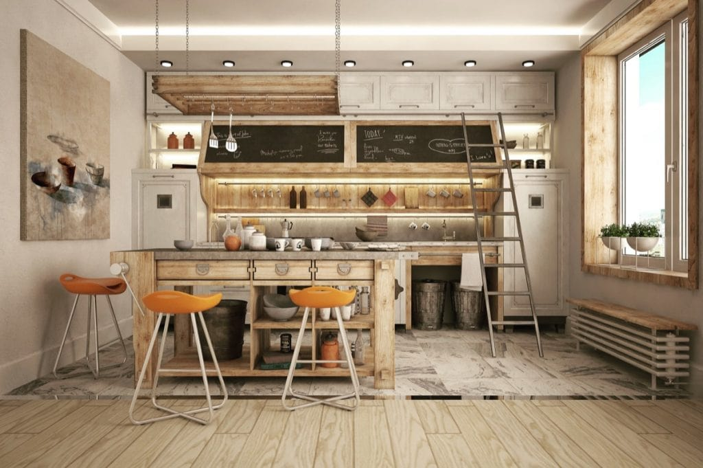 32-industrial-style-kitchens-that-will-make-you-fall-in-love-industrial-kitchen-countertops-industrial-kitchen-menu-1024x681 [Kiến thức] Thiết kế nội thất Industrial - Phong cách công nghiệp