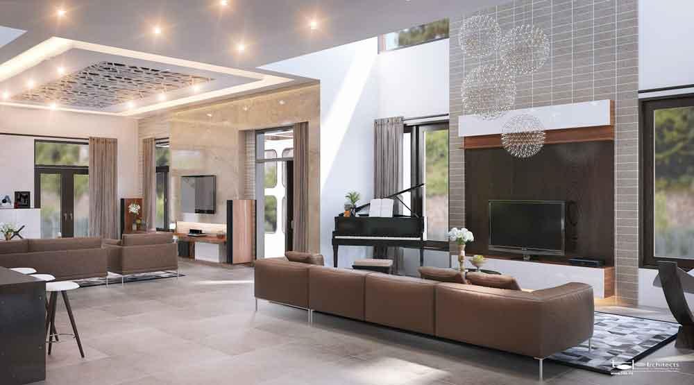 Dac-trung-biet-thu-hien-dai-2 Xu hướng mới trong thiết kế nội thất biệt thự