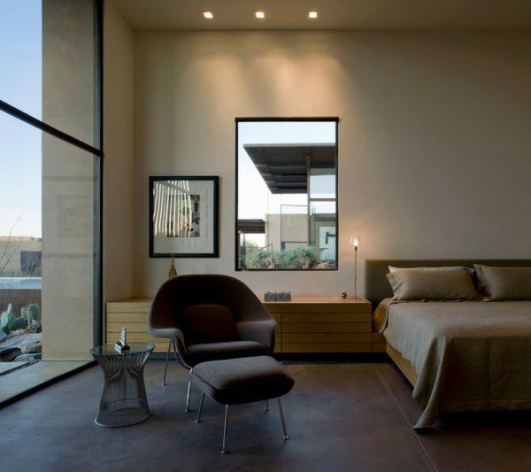 Enjoy-a-serene-moment-in-the-bedroom-draped-by-the-womb-chair [Tư vấn] Thiết kế nội thất phòng ngủ đẹp