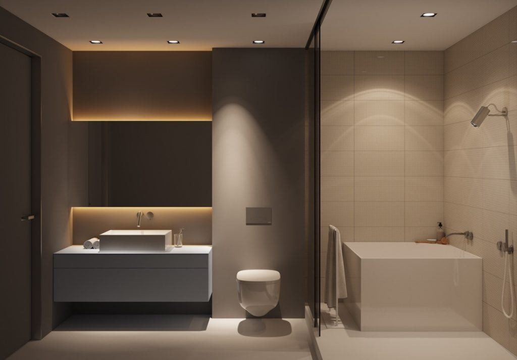 Minimalist-bath-tub-1024x712 Cách lựa chọn gạch ốp nhà vệ sinh đẹp