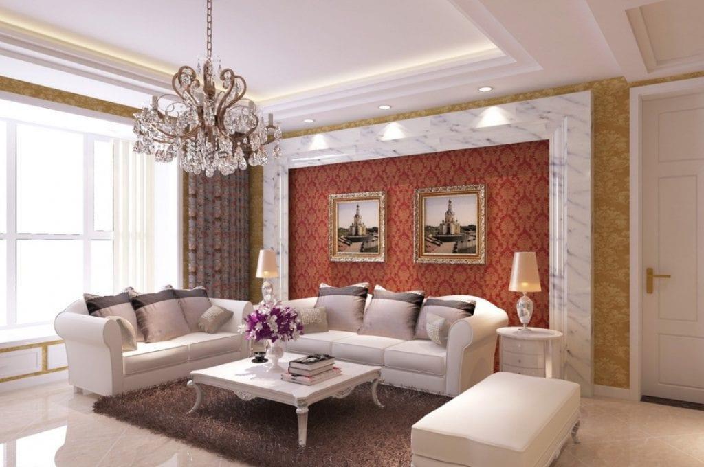 Neoclassical-living-room-sofa-background-wall-1024x680 Ghế sofa - Đồ nội thất phổ biến trong phòng khách gia đình