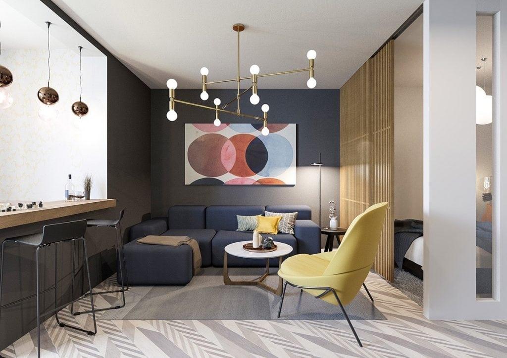 bauble-pendants-lime-chair-eclectic-living-room-1024x724 Ghế sofa - Đồ nội thất phổ biến trong phòng khách gia đình