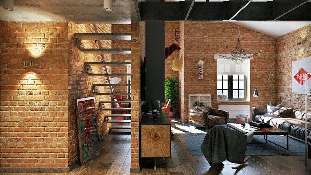 can-ho-nho-phong-cach-industrial-1024x576 [Kiến thức] Thiết kế nội thất Industrial - Phong cách công nghiệp