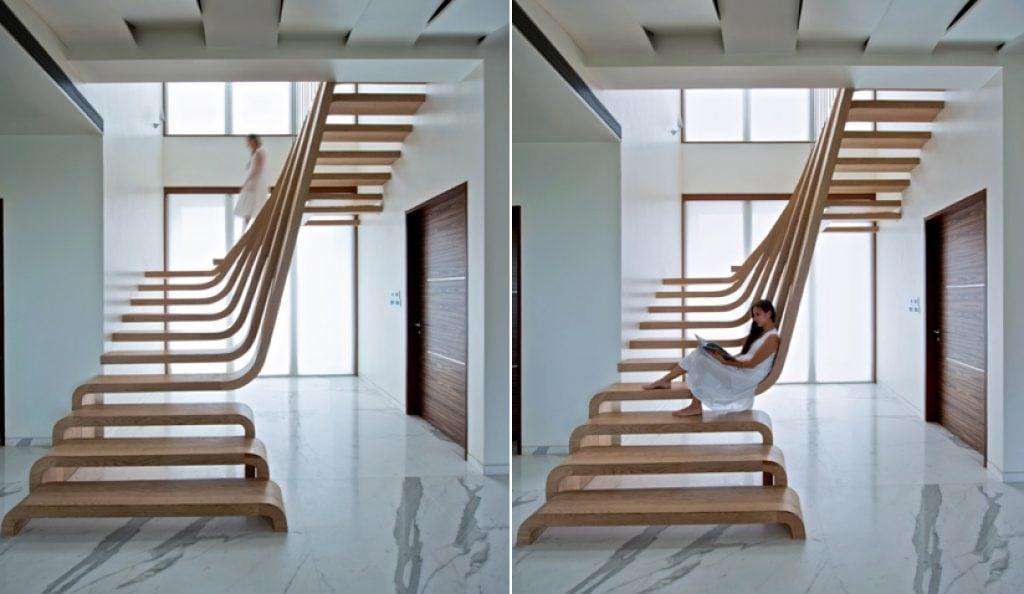 cau-thang-go-cach-dieu-1024x594 Mẫu cầu thang gỗ đẹp phổ biến hiện nay