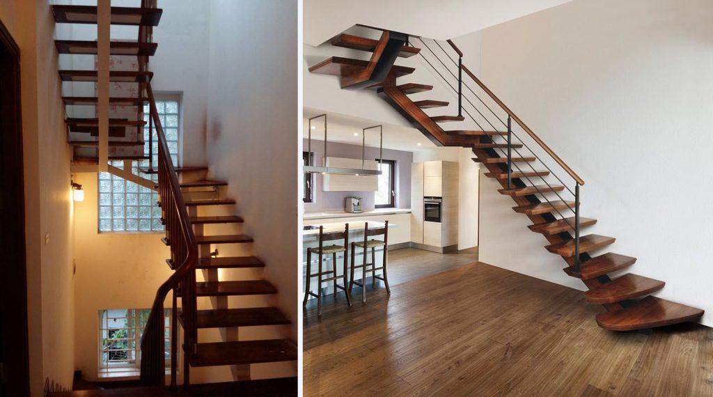 cau-thang-go-xuong-ca-1024x570 Mẫu cầu thang gỗ đẹp phổ biến hiện nay