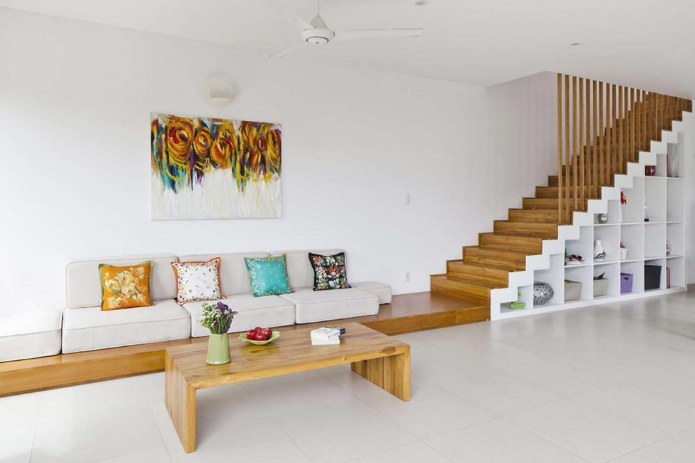 cau-thang-ket-hop-tu-do Mẫu cầu thang gỗ đẹp phổ biến hiện nay