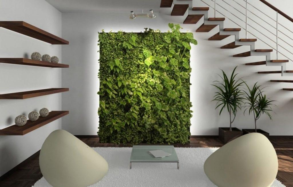 creatief-woonkamer-planten-1024x655 [Kiến thức] Phong cách Eco trong thiết kế nội thất