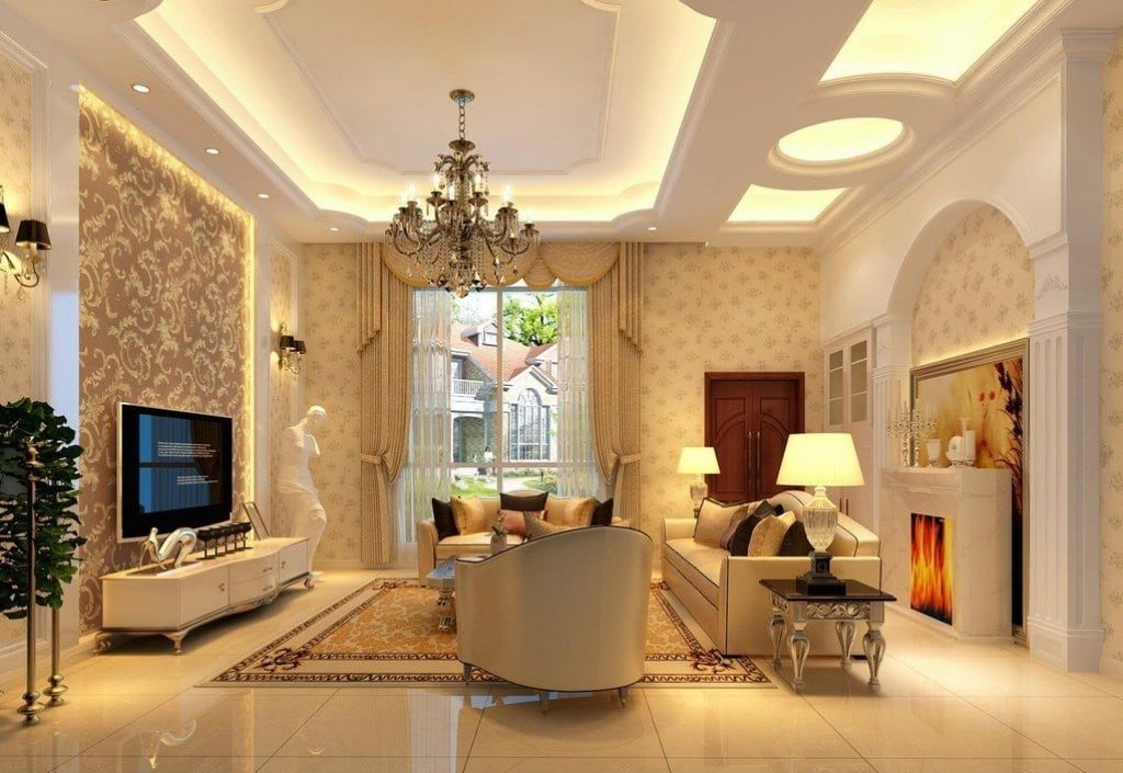 dizajn-potolka-v-zale-10-1024x705 [Kiến thức] Thiết kế nội thất cổ điển là gì?