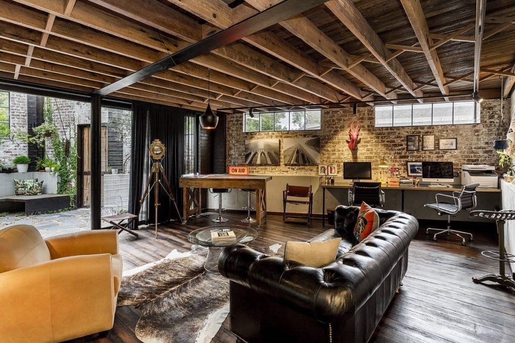 industrial-two-desks-home-office-ideas-1024x683 Ghế sofa - Đồ nội thất phổ biến trong phòng khách gia đình