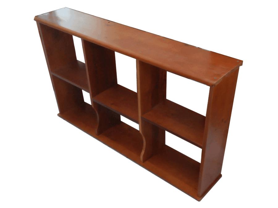 ke-sach-go-xoan-dao-treo-tuong-ks197-2185f Tủ sách gỗ tự nhiên: Ưu - nhược điểm trong thiết kế nội thất