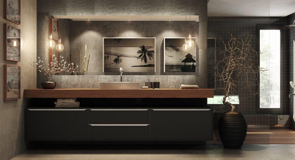 modern-black-bathroom-vanities-1024x556 Cách lựa chọn gạch ốp nhà vệ sinh đẹp