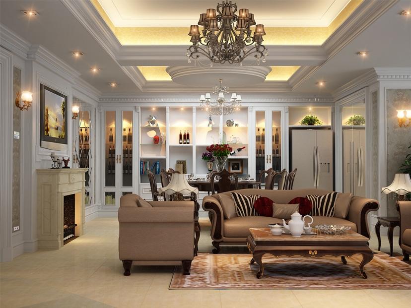 net-tan-co-dien-trong-thiet-ke-can-ho-blue-star-1 Bàn trà và những điều cần biết trong trang trí phòng khách