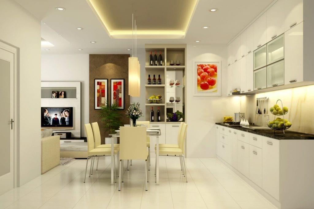 thiet-ke-khong-gian-phong-bep-hien-dai-1024x682 [Kiến thức] Thiết kế nội thất bếp phòng ăn như thế nào?