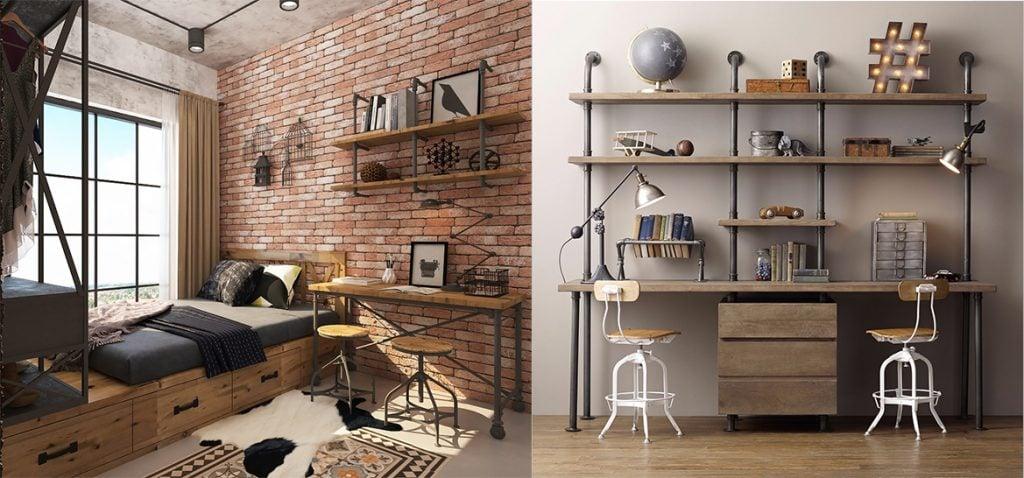 thiet-ke-noi-that-ban-lam-viec-cong-nghiep-1024x478 [Kiến thức] Thiết kế nội thất Industrial - Phong cách công nghiệp