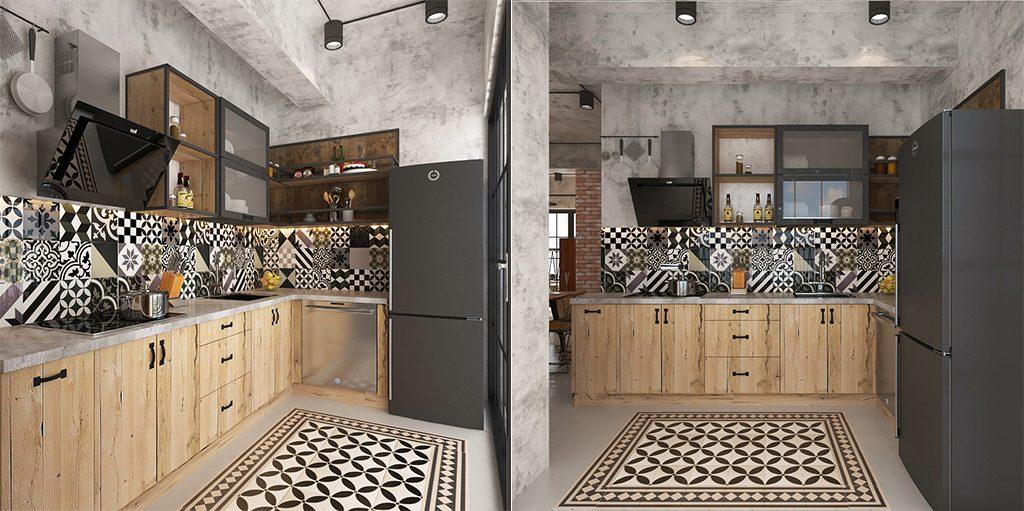 thiet-ke-noi-that-bep-pc-industrial-1024x511 [Kiến thức] Thiết kế nội thất Industrial - Phong cách công nghiệp