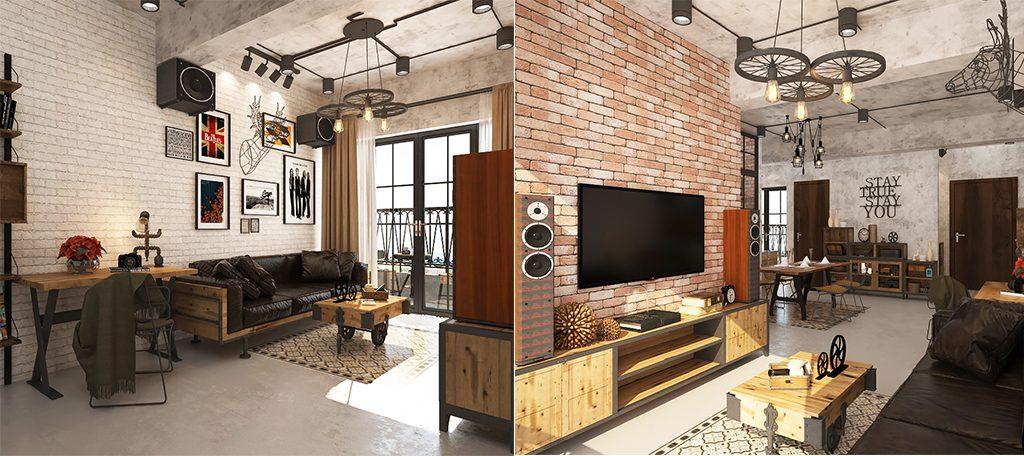 thiet-ke-noi-that-phong-khach-1-1024x456 [Kiến thức] Thiết kế nội thất Industrial - Phong cách công nghiệp