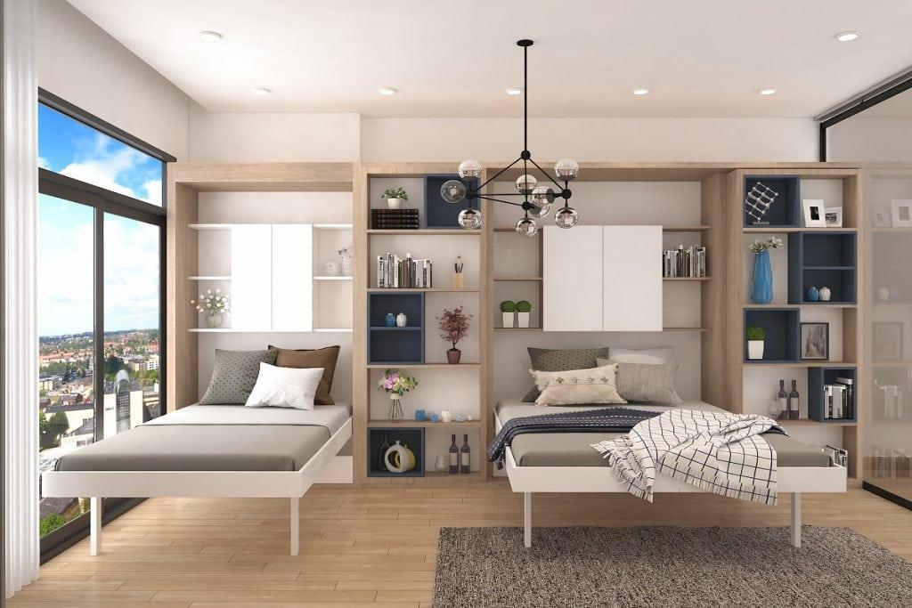thiet-ke-officetel-5-1024x683 [Tư vấn] Thiết kế nội thất phòng ngủ đẹp
