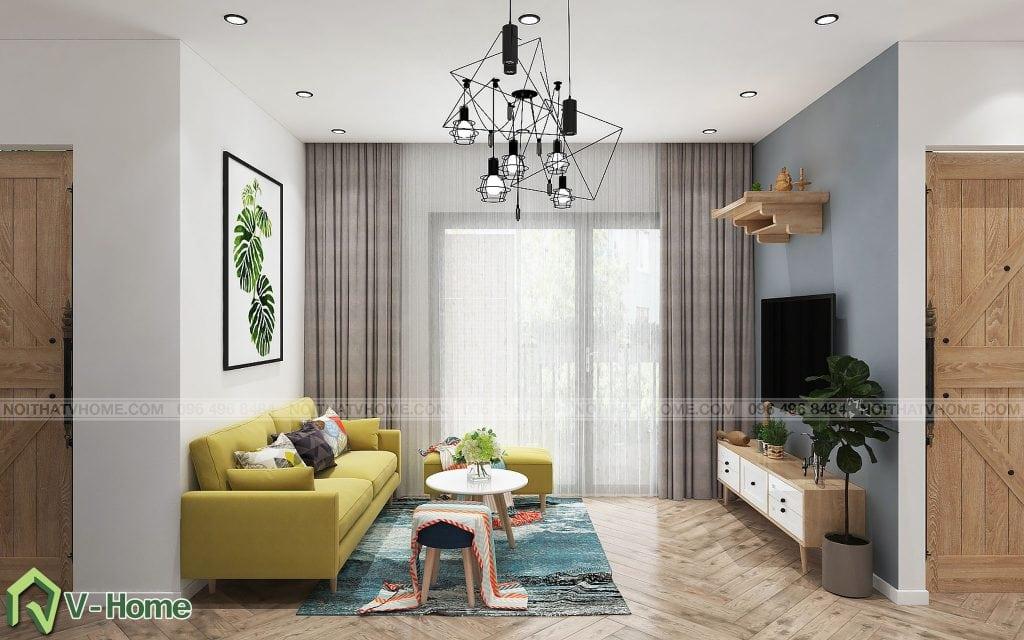 thiet-ke-phong-khach-chung-cu-n02-yen-hoa-1-1024x640 Thiết kế nội thất chung cư N02 - 259 Yên Hòa phong cách Scandinavian