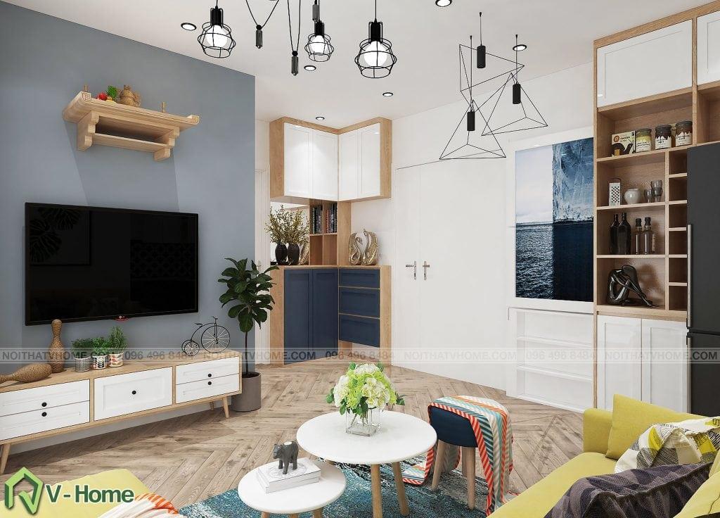 thiet-ke-phong-khach-chung-cu-n02-yen-hoa-2-1024x736 Thiết kế nội thất chung cư N02 - 259 Yên Hòa phong cách Scandinavian