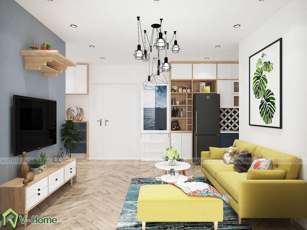 thiet-ke-phong-khach-chung-cu-n02-yen-hoa-3-1024x768 Thiết kế nội thất chung cư N02 - 259 Yên Hòa phong cách Scandinavian