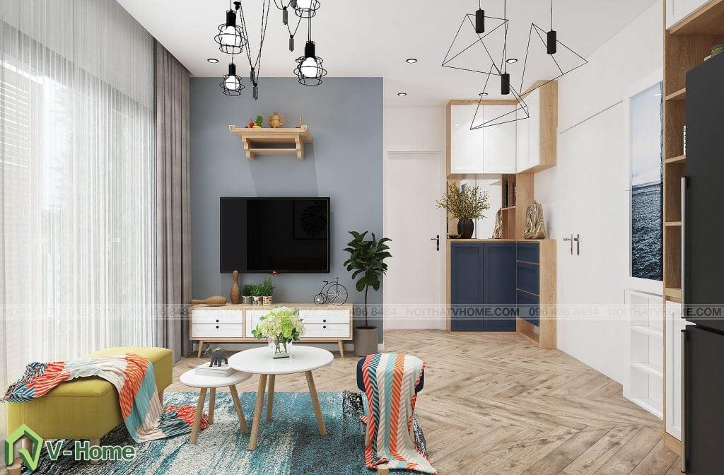 thiet-ke-phong-khach-chung-cu-n02-yen-hoa-4-1024x672 Thiết kế nội thất chung cư N02 - 259 Yên Hòa phong cách Scandinavian