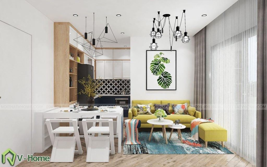 thiet-ke-phong-khach-chung-cu-n02-yen-hoa-6-1024x640 Thiết kế nội thất chung cư N02 - 259 Yên Hòa phong cách Scandinavian
