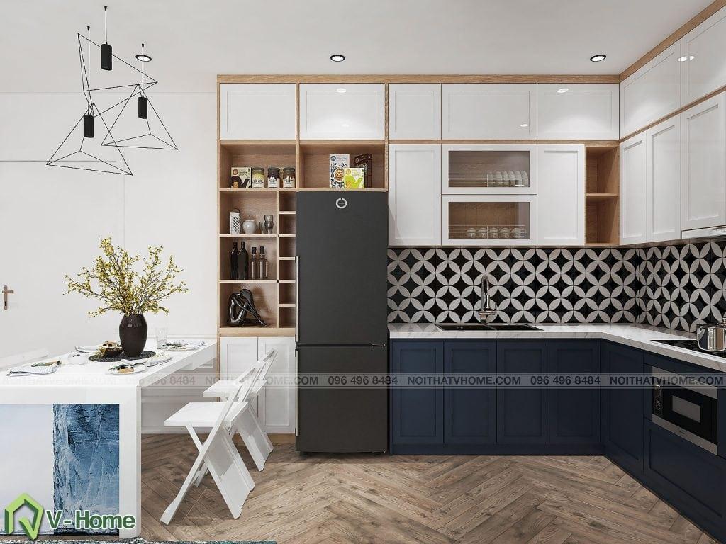 thiet-ke-phong-khach-chung-cu-n02-yen-hoa-8-1024x768 Thiết kế nội thất chung cư N02 - 259 Yên Hòa phong cách Scandinavian