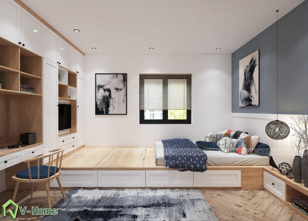 thiet-ke-phong-ngu-chung-cu-n02-yen-hoa-3-1024x736 Thiết kế nội thất chung cư N02 - 259 Yên Hòa phong cách Scandinavian