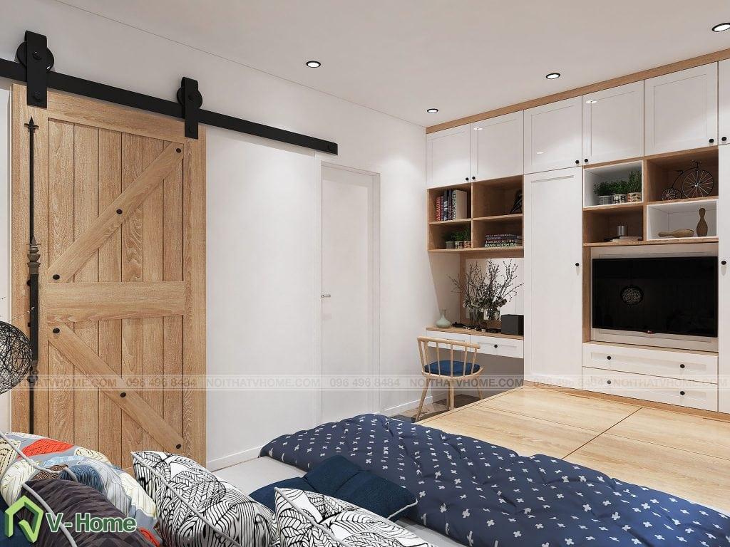 thiet-ke-phong-ngu-chung-cu-n02-yen-hoa-4-1024x768 Thiết kế nội thất chung cư N02 - 259 Yên Hòa phong cách Scandinavian