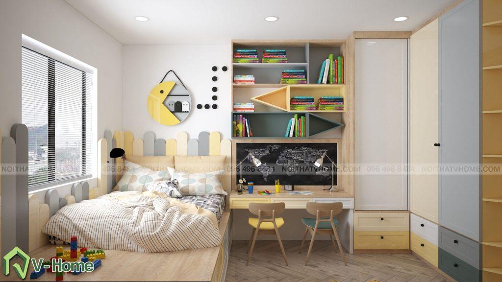 thiet-ke-phong-ngu-chung-cu-n02-yen-hoa-6-1024x576 Thiết kế nội thất chung cư N02 - 259 Yên Hòa phong cách Scandinavian